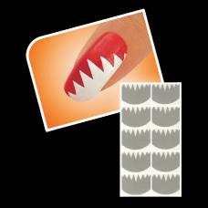 Nageltattoo - Grote tanden